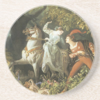 Undine and The Wood Demon - Vintage Fairy Coasters