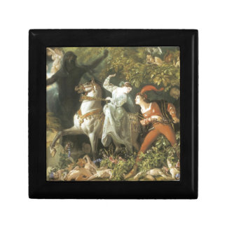 Undine and The Wood Demon - Vintage Fairy Jewelry Box