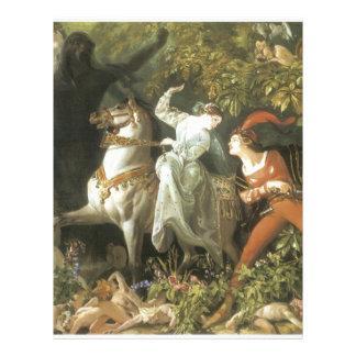 Undine and The Wood Demon - Vintage Fairy Letterhead