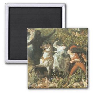 Undine and The Wood Demon - Vintage Fairy Fridge Magnet