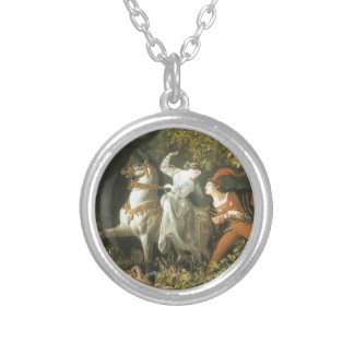 Undine and The Wood Demon - Vintage Fairy Necklaces