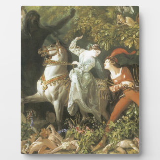 Undine and The Wood Demon - Vintage Fairy Display Plaques