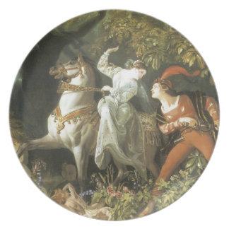 Undine and The Wood Demon - Vintage Fairy Dinner Plates