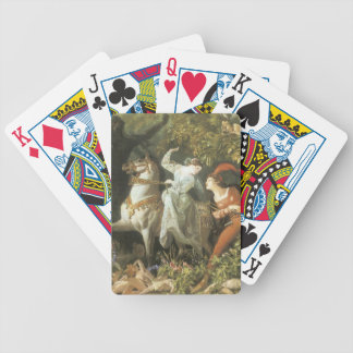 Undine and The Wood Demon - Vintage Fairy Bicycle Poker Deck