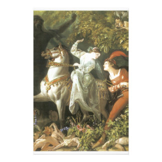 Undine and The Wood Demon - Vintage Fairy Custom Stationery
