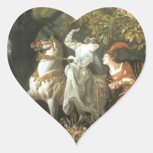 Undine and The Wood Demon - Vintage Fairy Heart Sticker