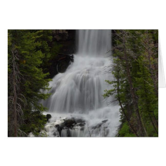 Undine Waterfalls Yellowstone Greeting Card