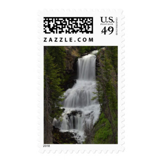 Undine Waterfalls Yellowstone Stamp