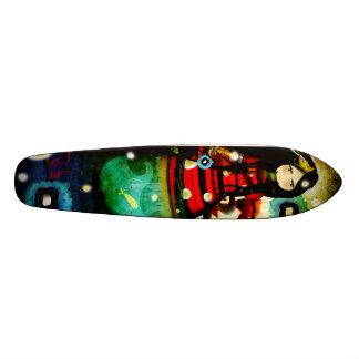 Undiscovered hope surf sea vintage old skateboard
