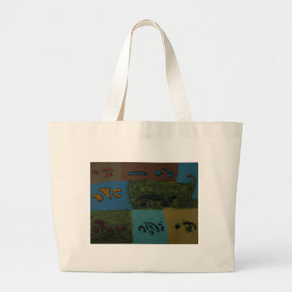 UNDISCOVERED ISLANDS LARGE TOTE BAG