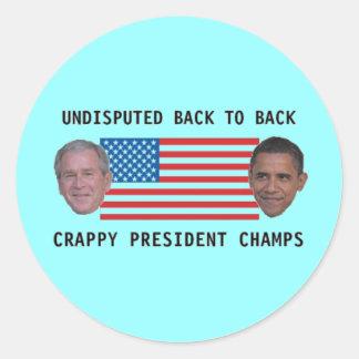 Undisputed Champs! Round Sticker