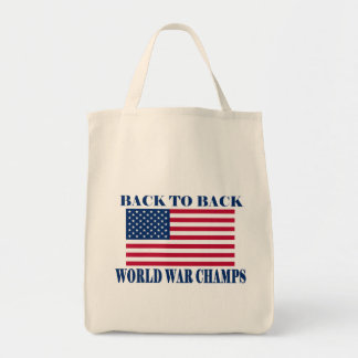Undisputed World War Champions, American Flag Tote Bag