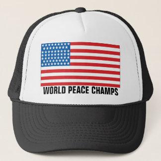 Undisputed World War Champions American Flag Truck Trucker Hat