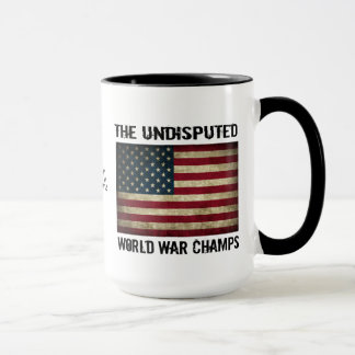 Undisputed World War Champions - USA Flag Mug