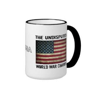 Undisputed World War Champions - USA Flag Ringer Mug