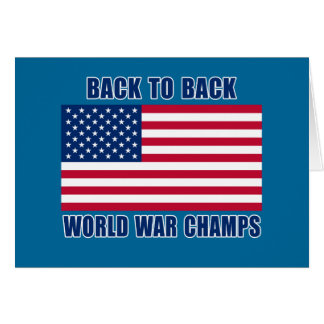 Undisputed World War Champions with American Flag Card