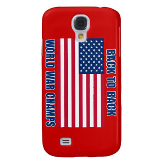Undisputed World War Champions with American Flag Galaxy S4 Cover
