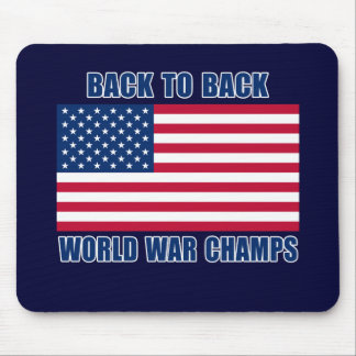 Undisputed World War Champions with American Flag Mouse Pad