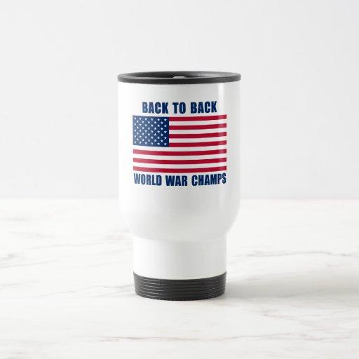 Undisputed World War Champions with American Flag Coffee Mug
