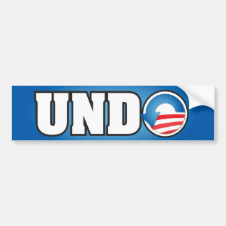 UNDO BUMPER STICKER