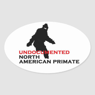 Undocumented North American Primate Oval Sticker