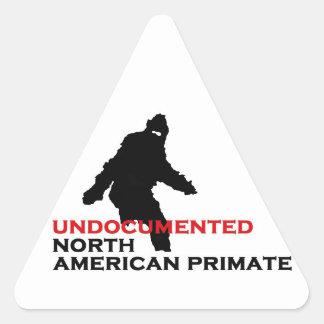 Undocumented North American Primate Warning Triangle Sticker