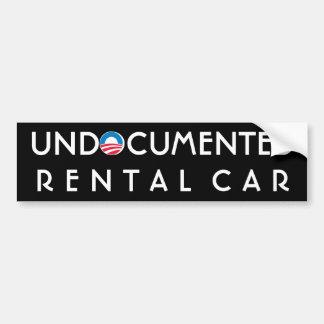 Undocumented Rental Car Bumper Sticker