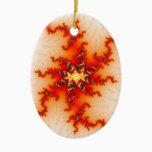 Undone Fractal Ceramic Ornament