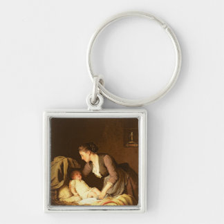 Undressing the Baby, 1880 Keychain