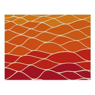 Undulating Orange Pattern Postcard