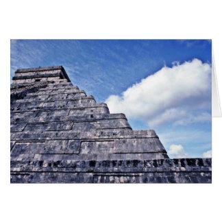 Undulating Serpent Shape Of El Castillo Greeting Card