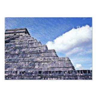 Undulating Serpent Shape Of El Castillo 5x7 Paper Invitation Card