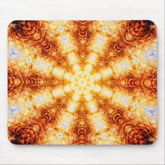 Undulating Tunnels of Molten Light - Abstract Mouse Pad