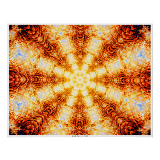 Undulating Tunnels of Molten Light - Abstract Poster