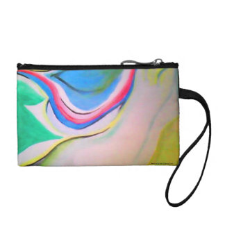 Undulation Abstract Painting Coin Purse