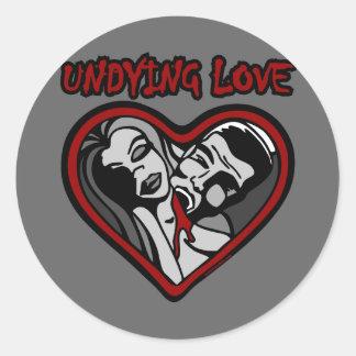 UNDYING LOVE ROUND STICKER
