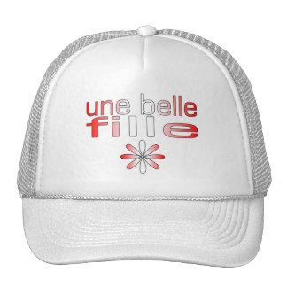 Une Belle Fille Canada Flag Colors Hats