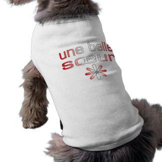 Une Belle Sœur Canada Flag Colors Doggie Shirt