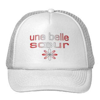 Une Belle Sœur Canada Flag Colors Mesh Hats