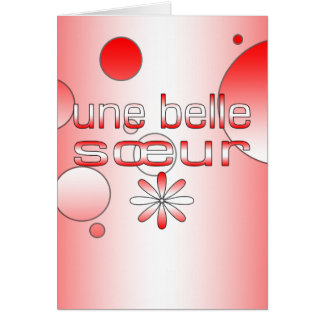 Une Belle Sœur Canada Flag Colors Pop Art Stationery Note Card