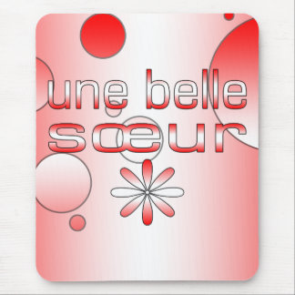Une Belle Sœur Canada Flag Colors Pop Art Mouse Pad