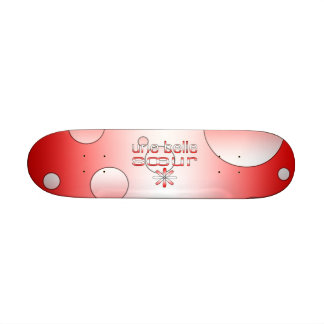 Une Belle Sœur Canada Flag Colors Pop Art Skate Board