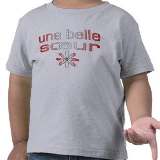 Une Belle Sœur Canada Flag Colors Tee Shirt