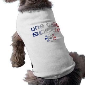 Une Belle Sœur France Flag Colors Doggie Tee Shirt
