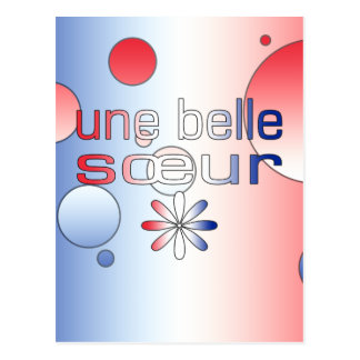 Une Belle Sœur France Flag Colors Pop Art Postcard