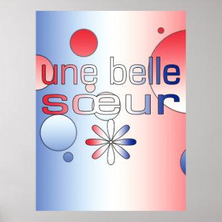 Une Belle Sœur France Flag Colors Pop Art Print