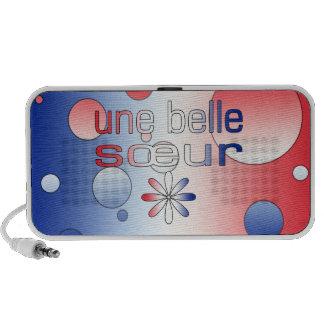 Une Belle Sœur France Flag Colors Pop Art iPhone Speakers