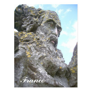 Une carte postal d'un joli statue postcard