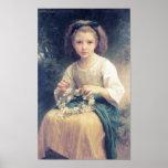 Une Couronne de Bouguereau - de Enfant Tressant Poster
