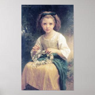 Une Couronne de Bouguereau - de Enfant Tressant Póster